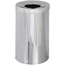 Reflections® 35 Gallon Open Top Indoor Receptacle - Chrome