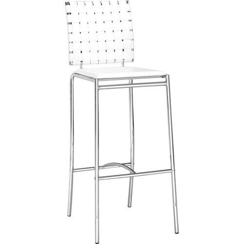 Criss Cross Barstool in White