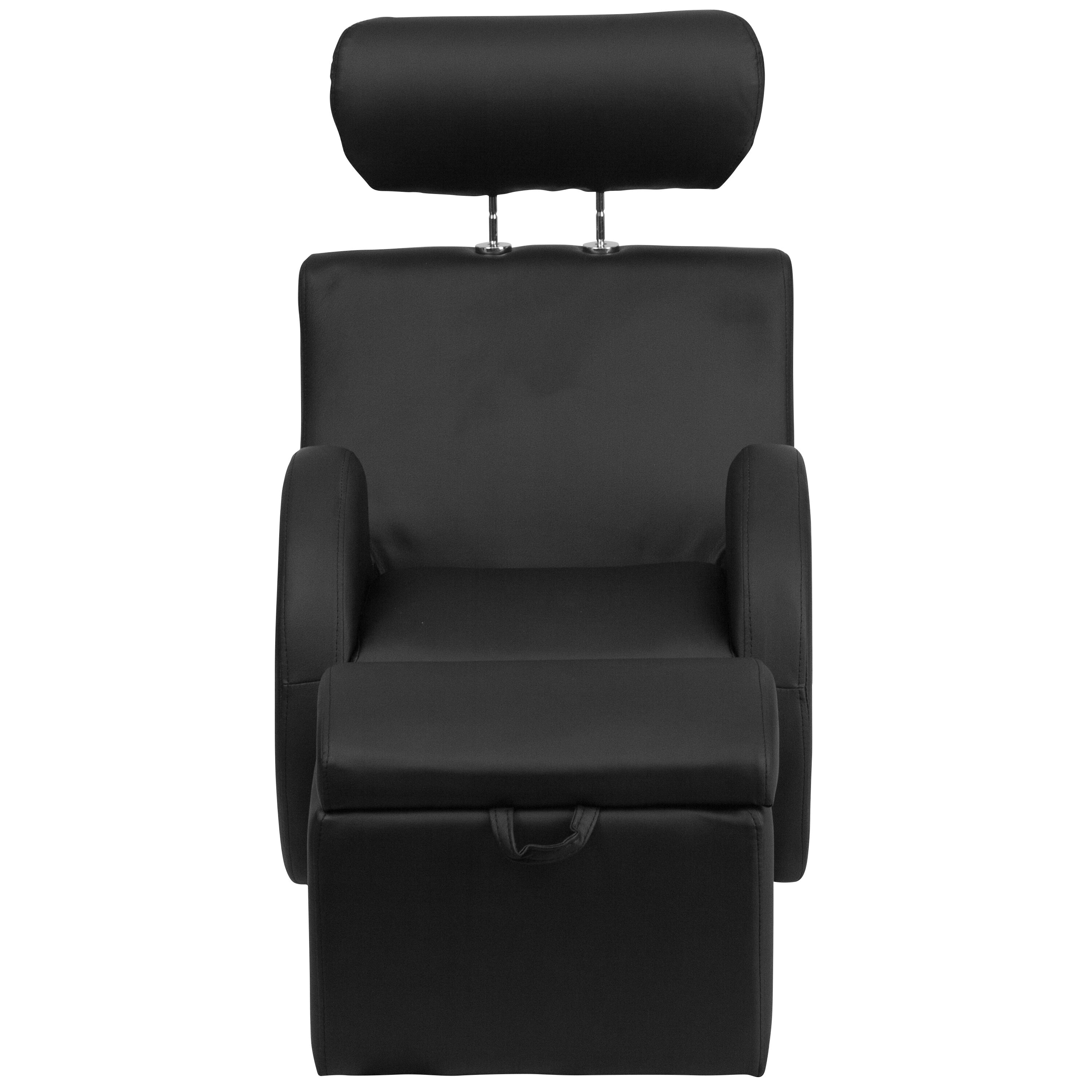 Our HERCULES Series Black Vinyl Rocking Chair With Storage Ottoman Is On  Sale Now.