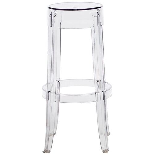 Our Clear Polycarbonate Bar Height Backless Kage Stool - 30