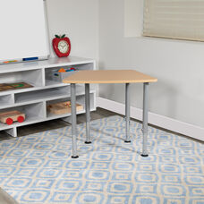 "Hex Natural Collaborative Student Desk (Adjustable from 22.3"" to 34"") - Home and Classroom"