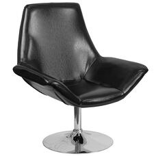 HERCULES Sabrina Series Black LeatherSoft Side Reception Chair