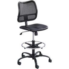 Vue™ Ergonomic Mesh Extended Height Drafting Chair - Black Vinyl