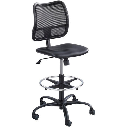 Our Vue™ Ergonomic Mesh Extended Height Drafting Chair - Black Vinyl is on sale now.