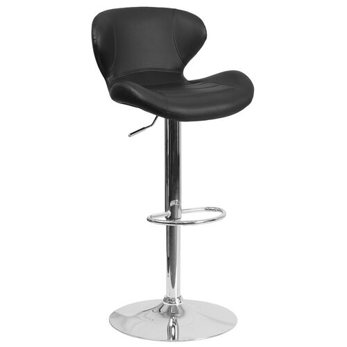 Our Contemporary Adjustable Height Barstool with Curved Back and Chrome Base is on sale now.