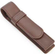 Single Pen Case - Top Grain Nappa Leather - Coco