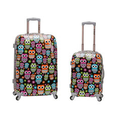 Rockland 2 Pc. Polycarbonate Abs Upright Luggage Set - Owl