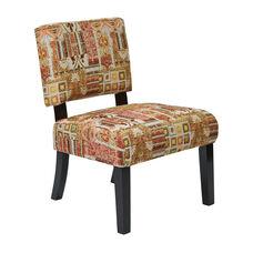 Ave Six Jasmine Armless Accent Chair - Galileo