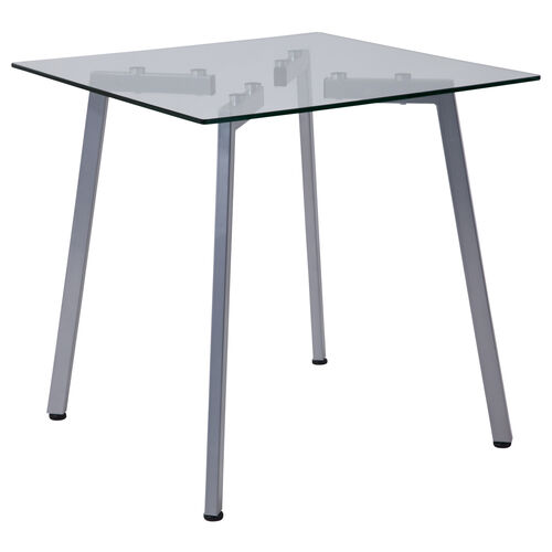 Our Roxbury Collection Glass End Table with Silver Metal Legs is on sale now.