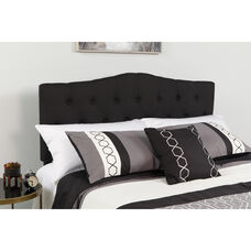 Cambridge Tufted Upholstered Full Size Headboard in Black Fabric