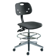 Quick Ship ArmorSeat Series Chair with UV Inhibitor and Wide Aluminum Base - Medium Seat Height