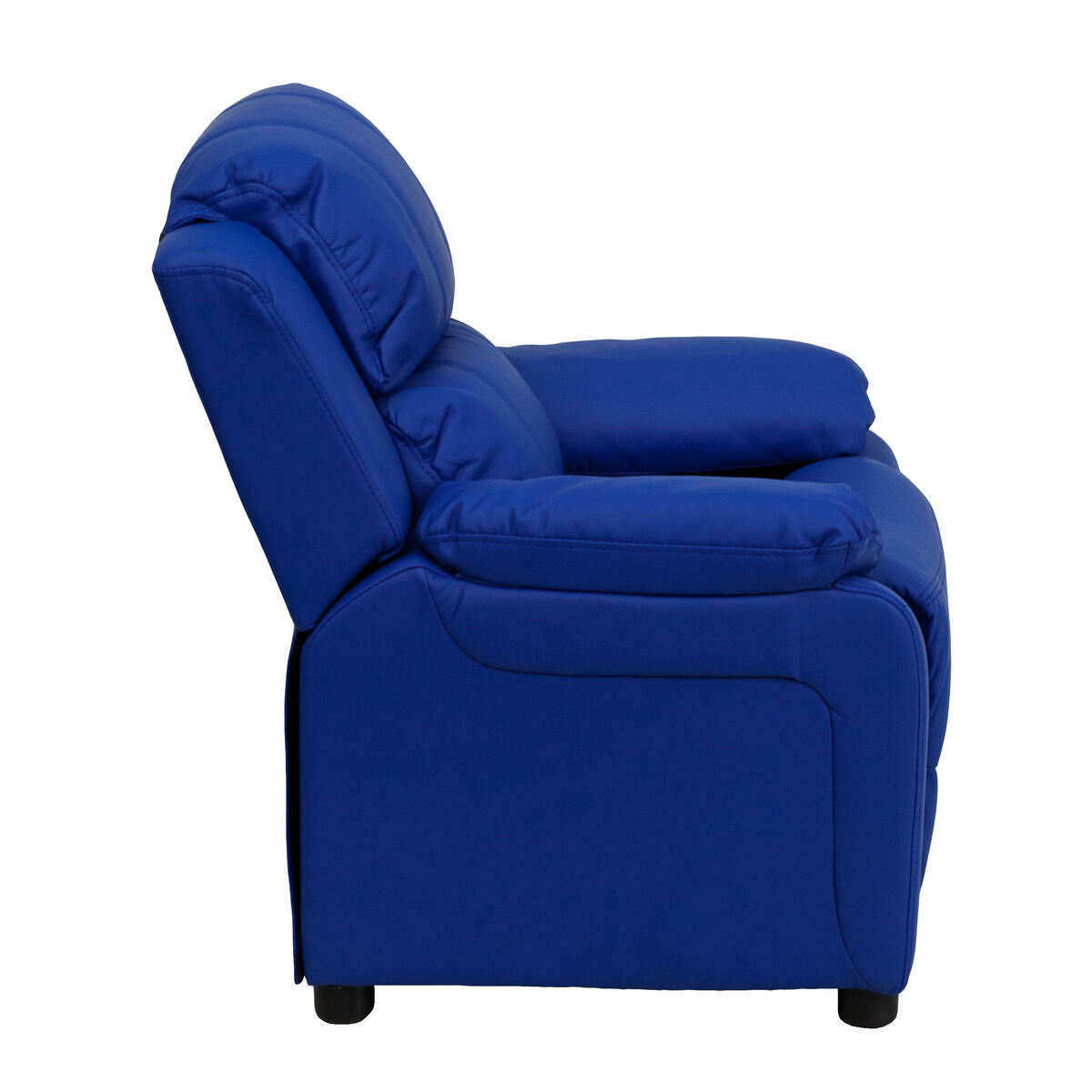 Deluxe Padded Contemporary Blue Vinyl Kids Recliner With