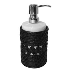 Sebrina Lotion Dispenser - Dark Espresso Rattan