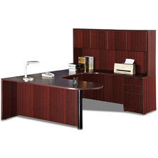 Right Curvilinear U-Group Executive Suite with D-Top and Hutch