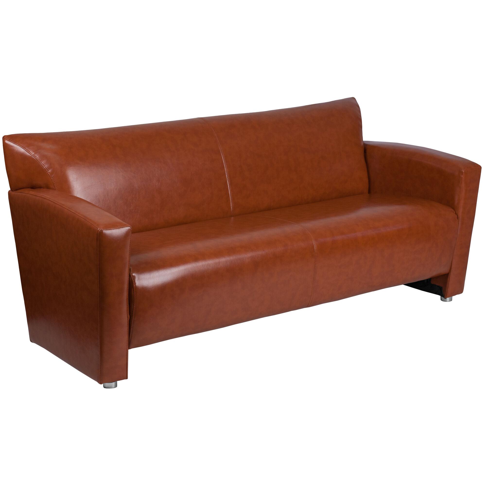 Cognac Leather Sofa 222 3 Cg Gg Bizchair Com