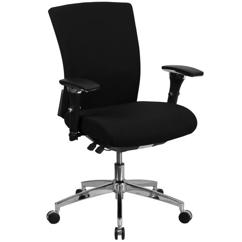 HERCULES Series 24/7 Intensive Use 300 lb. Rated Multifunction Executive Swivel Ergonomic Office Chair with Seat Slider and Adjustable Lumbar