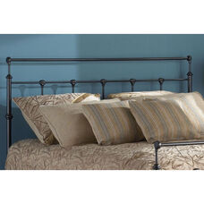 Winslow Traditional Metal Headboard - Queen - Mahogany Gold
