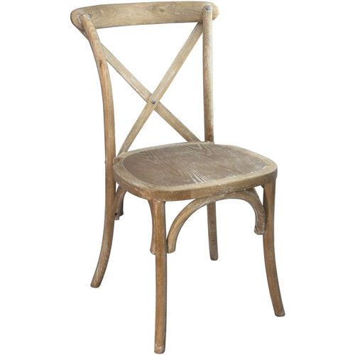 Advantage Natural With White Grain X-Back Chair