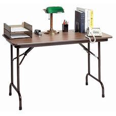 Fixed Height Rectangular Melamine Top Folding Table - 24