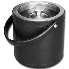 Classic Leather Ice Bucket - Black