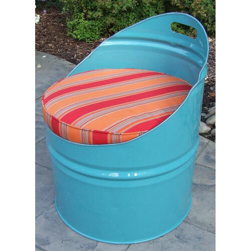 Santa Fe Steel Drum Club Chair with Multicolor Accents