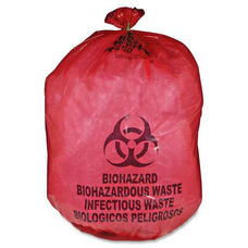 Medical Action Industries MHMS Red Biohazard Infectious Waste Bags - 33 Gallon