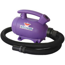 B-55 Home 2-Speed Pet Dryer and Vacuum with 3 Nozzle Accessories and 2 HP - Purple