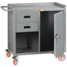 Mobile 2 Drawer Bench Cabinet with 1 Locking Door - 24