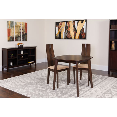 Our Newport 3 Piece Espresso Wood Dining Table Set with Padded Wood Dining Chairs is on sale now.