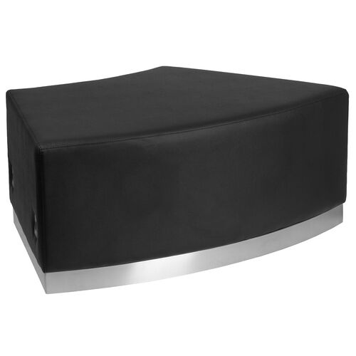 Our HERCULES Alon Series Black Leather Backless Convex Chair with Brushed Stainless Steel Base is on sale now.