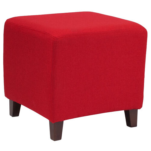 Our Ascalon Upholstered Ottoman Pouf in Red Fabric is on sale now.