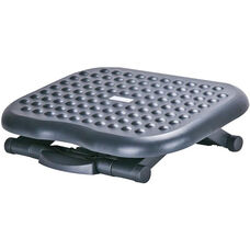 Massaging Footrest with Large Accupressure Bumps - Black