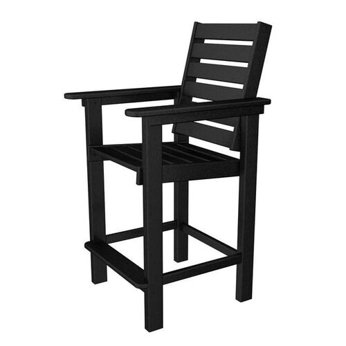 Our POLYWOOD® Captain Collection Counter Chair - Black is on sale now.