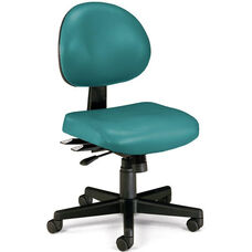 24 Hour Anti-Microbial and Anti-Bacterial Vinyl Task Chair - Teal