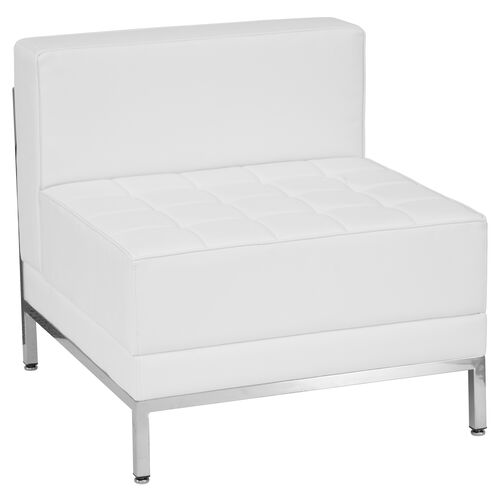 Our HERCULES Imagination Series Contemporary Melrose White Leather Middle Chair is on sale now.