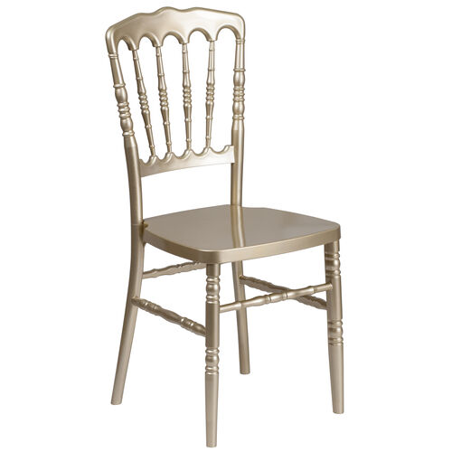 Our HERCULES Series Gold Resin Stacking Napoleon Chair is on sale now.