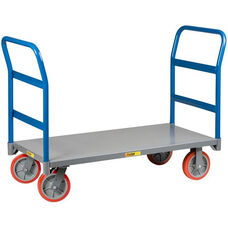 Double Handle Platform Truck with 8