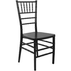Advantage Black Monoblock Resin Chiavari Chair
