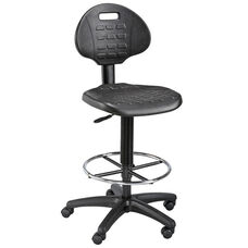 LabTek Height Adjustable Utility Drafting Chair - Black