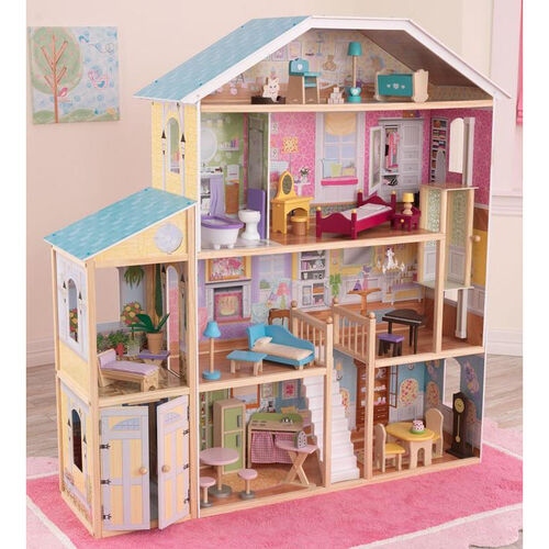 Our Majestic Mansion Tall and Wide Dollhouse for 12