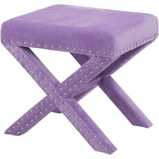 OSP Accents Katie Bench with Silver Nail Heads - Lavender Micro Velvet