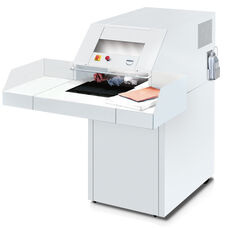 4108 High Capacity Continuous Operation 75-95 Sheet Feed Capacity with 6mm Strip-Cut Hardbound Document Shredder with Centralized Oiler with 79-Gallon Bin and P-2 Security Level