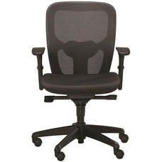 Polo Task Chair with Contoured Mesh Back - Black