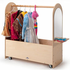 Portable Birch Laminate Dress-Up Rack with Casters