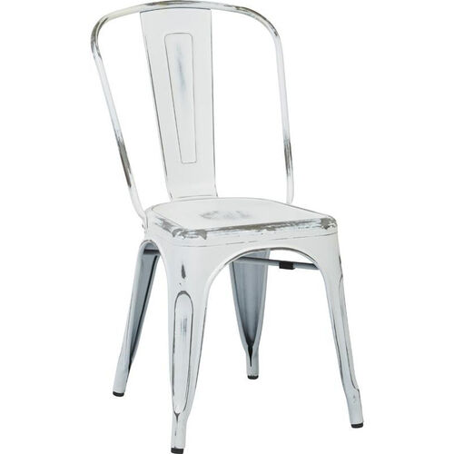 Our OSP Designs Bristow Stackable Armless Metal Chair - Set of 2 - Antique White is on sale now.