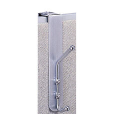 Over The Panel Coat Hook - Set of Twelve - Silver