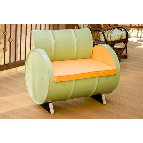 Our Jadeite Steel Drum Armchair with Mango Accents is on sale now.
