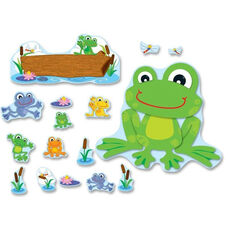 Carson-Dellosa Publishing Decorative Funky Frog Bulletin Board Set