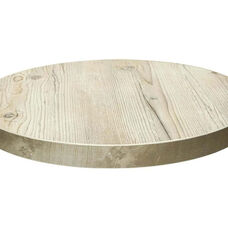 Marco 24'' Round Melamine Table Top - Old Pine