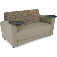 InterPlay Tablet Taupe Sofa - Tungsten Finish